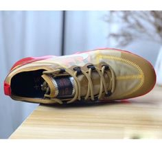 wholesale dealer 40b71 9b0de 2019 AIR Max VAPORMAX FLYKNIT Runing Shoes-GoldRed16016 - Fashion Outdoor  Shoes