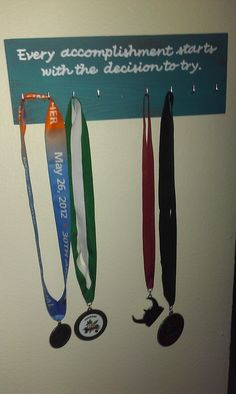 Race medal holder - need to sign up for more races to fill it up!