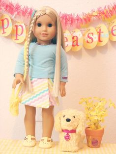 American Girl Doll Play: Julie's Easter Attire...
