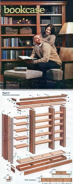 DIY Bookcase - Furniture Plans and Projects | http://WoodArchivist.com