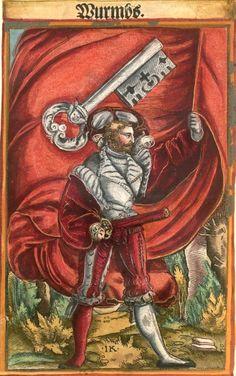 "Worms [Wurmbs] (f°112) -- Koebel, Jacob, ""Wapen des heyligen römischen Reichs teutscher Nation"", Franckfurth am Main, 1545 [BSB Ms. Rar. 2155]"