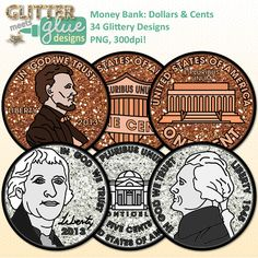 Money Bank: Dollars & Cents Clipart - US Currency Dipped in Glitter! Money Clipart, Math Clipart, Teacher Fonts, Teacher Resources, Teacher Stuff, Classroom Rewards, Classroom Posters, Education Clipart, Poster Display