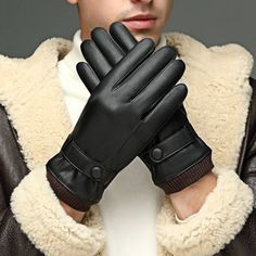 Winter Accessories, Leather Gloves, Belts, Velvet, Touch, Warm, Products, Gadget