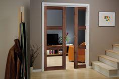 Skyvedører kan frigjøre mye plass som du ikke visste at du hadde - Byggmakker+ Wooden Door Design, Wooden Doors, Entry Doors, Sliding Doors, Garage Doors, Black And White Interior, Modern Door, Steel Doors, Internal Doors