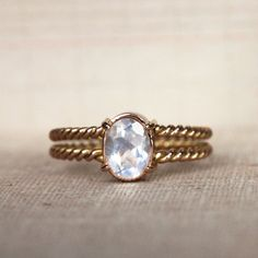 Memento mori ring - unconventional engagement ring - moonstone, gold 18ct - made to order