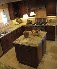 Kitchens With Crema Beach Granite   Google Search   Kitchen Countertops    Pinterest   Granite, Countertops And Dark Countertops