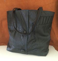 Recycled leather jacket tote bag