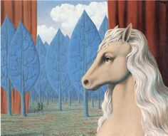 """""""Pure reason"""" (1948) by Rene Magritte via Wikipaintings."""