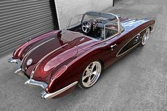 In love with that body style....1958 Chevy Corvette