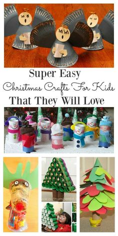 Need some easy and fun Christmas crafts for kids to make? These ideas are great for children who are looking for simple and easy crafts which they could also turn into Christmas gifts. Kids can be creative with these craft, and they are great for the todd Christmas Crafts For Toddlers, Toddler Christmas, Easy Christmas Crafts, Simple Christmas, Kids Christmas, Gifts For Kids, Crafts Toddlers, Xmas, Christmas Decorations With Kids