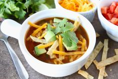 Chicken Fajita Soup from Two Peas and Their Pod