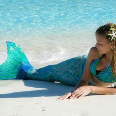 Mermaid Tail, Scales, Zoey's Aussie Green, Fin Fun Tails, Comes with Monofin That Fits Any Size Foot - Buy Online in United Arab Emirates. Realistic Mermaid Tails, Mermaid Tails For Kids, Ariel The Little Mermaid, Swimwear Brands, Kids Swimwear, Mermaid Pose, Mermaid Suit, Fantasy Mermaids, H2o Mermaids
