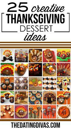 Creative Thanksgiving Dessert Ideas- cute!