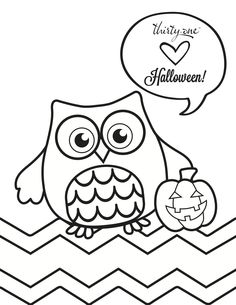 Owl-loween Coloring Page!