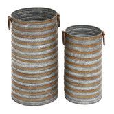 Found it at Wayfair - 2 Piece Cylindrical Planter Set