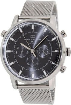 Tommy Hilfiger Silver-Tone Stainless Steel Watch
