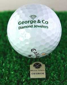 """Make your golf game a bit more personal with a custom made """"Tombstone Ball Marker"""" This ball marker can be customized with your name and either a golf club symbol or perhaps the logo from your favorite golf course!"""