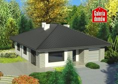 Projekt domu: Dom przy Słonecznej 6 bis Cottage Style House Plans, Bungalow House Design, Small House Plans, Future House, Gazebo, Shed, Outdoor Structures, Cabin, How To Plan