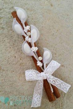 Greek romantic wedding favors in vintage rustic style Romantic Wedding Favours, Romantic Weddings, Wedding Gifts, Baby Wedding, Greek Wedding, Nylon Flowers, Paper Flowers, Almond Flower, Personalized Wedding Favors