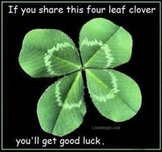 share this four leaf clover quotes fun luck clover