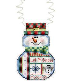 Janlynn Holiday Wizzers Snowman Let It Snow Counted Cross Stitch Kit: counted cross stitch kits: cross stitch: needle arts: Shop | Joann.com