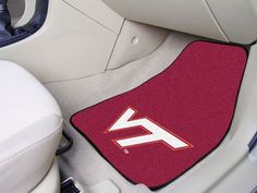 "Virginia Tech 2-piece Carpeted Car Mats 17""x27"""