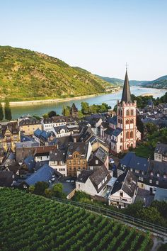 Bacharach, Germany, in the Rhine River Valley Places Around The World, Oh The Places You'll Go, Places To Travel, Places To Visit, Around The Worlds, Travel Destinations, Visit Germany, Germany Travel, Boppard Germany