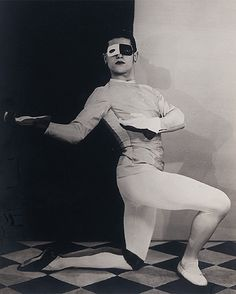 ...as well as shots of the dancer by major photographers of the avant garde    movement such as Man Ray...    ABOVE: Man Ray (1890-1976), Serge Lifar dans Roméo et Juliette, 1926