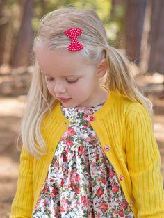 Maxine Buttercup Cardigan - Only Sizes 0 to 3 Left! - Oobi.com.au Boho Flower Girl, Luxury Dress, Buttercup, Tween, Dress Collection, Ava, Little Girls, Bohemian, Knitting