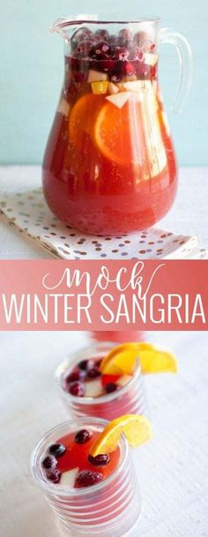 Mock Winter Sangria | Oh So Delicioso