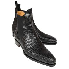 Handcrafted chelsea boots collection for men, all boots have been stitched with high quality calf and exotic pelts. Check out the best boots for men now! Black Chelsea Boots, Leather Chelsea Boots, Leather Shoes, Women Oxford Shoes, Men S Shoes, Leather Fashion, Fashion Boots, Men's Fashion, Long Black Socks