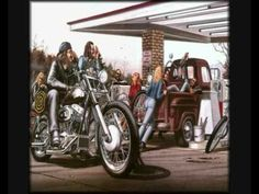 Molly Hatchet - One Last Ride.  Some great drawings by David Mann. Enjoy!