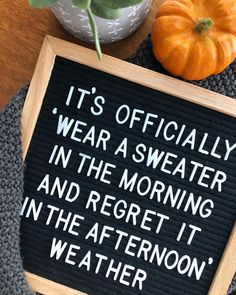 Fall is my favorite time of year! I love the changing of the seasons, but sometimes this unfortunately is so true! Word Board, Quote Board, Message Board, Chalk Board, Fall Humor, Me Quotes, Funny Quotes, Funny Phrases, Work Quotes