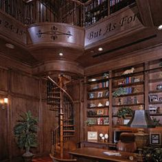 traditional library room by The Fechtel Company