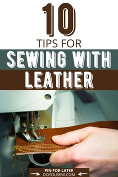 The leather is a fabric that has been there since ages and is going to stay for long. It not only provides warmth during the winter and fall but also looks great with anything. This is why now you can spot leather on anything and everything. But when it comes to sewing on to leather, it is not that easy. The leather is a different fabric in itself. Read article for more! #leather #sewingwithleather #leathersewingtips #sewer #sewist  #handsewingleather #machinesewingleather #craft Sewing Tips, Sewing Tutorials, Sewing Hacks, Sewing Projects, Diy Projects, Sewing Leather, Learn To Sew, Sewing Clothes, Hand Stitching