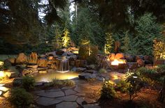 Outdoor Night Lighting - Gallery | Alderwood Landscaping