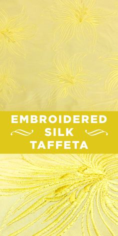Gold Silk Taffeta with Metallic Floral Embroidery #Lily #Flowers #Gown www.bandjfabrics.com