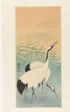 Twee kraanvogels, Ohara Koson, 1925 - 1936