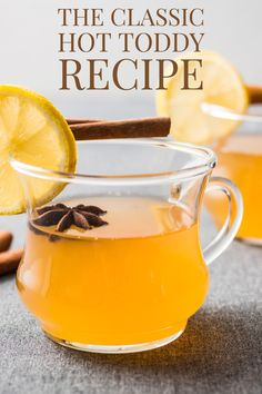 Often a blank canvas for a variety of innovative upgrades, the classic Hot Toddy recipe is still the best entry point to the world of warm cocktails. Winter Cocktails, Blue Cocktails, Classic Hot Toddy Recipe, Hot Toddy Recipe For Colds, Hot Toddy Recipe Bourbon, Hotty Toddy Drink, Recipe For Teens, Slimming Recipes, Alcohol Recipes
