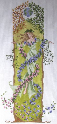 Gaia the Earth Goddess Cross Stitch Chart PDF by clairecrompton, £5.00