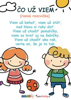 Čo už viem – rozcvička – preučiteľky.sk Educational Activities, Activities For Kids, Kids Education, Homeschool, Creative, Happy Hour, Diet, Teaching Materials, Kid Activities