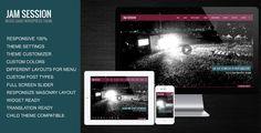 JamSession Responsive Music Band WordPress Theme - Music and Bands Entertainment