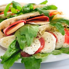 Caprese Sandwich, with a pear    http://www.seventeen.com/college/freshman/recipes-for-college-students#slide-5
