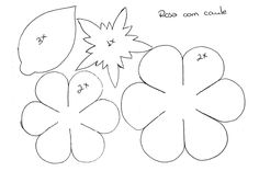 moldes de rosas de eva passo a passo 1