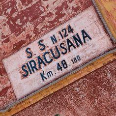Sicilia - sign on a road maintenance depot