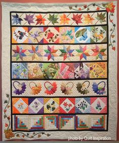 """Scrappy"" by Doreen Webb. 43rd Annual Springville (Utah) Quilt Show (part 1).  Photo by Quilt Inspiration."