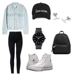 """Untitled #11"" by niken-laras on Polyvore featuring Yeezy by Kanye West, J Brand, Converse, MANGO and Myia Bonner"