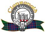 "Clanranald Clan Tartan the Crest ""A triple-towered castle Argent masoned Sable, and issuing from the centre tower a dexter arm in armour embowed grasping a sword all Proper"". Clanranald Clan Motto is ""My Hope is Constant in Thee"". MacRory Mor"