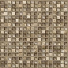 """Waiting to find the perfect tile backsplash to complete your kitchen renovation project? Here it is..  This tile blends modern and traditional style featuring both glass and stone.  Style """"Mixed Up 5/8 Mosaic stone"""" color Canyon - By Shaw Floors"""