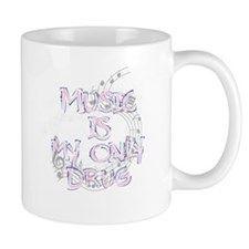 Music is my drug 11 oz Ceramic Mug Mugs by Adrianne_Desire - CafePress Mug Designs, Drinkware, Vivid Colors, Drugs, Coffee Mugs, Ceramics, Music, Gifts, Ceramica